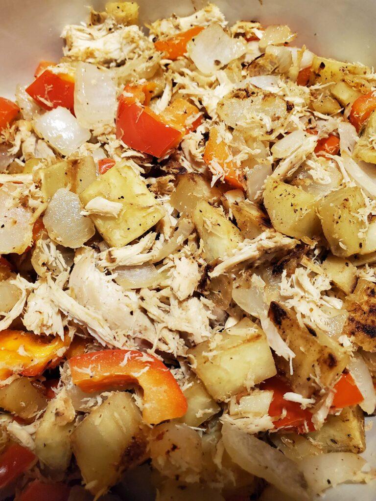 Sweet Potato with Shredded Chicken