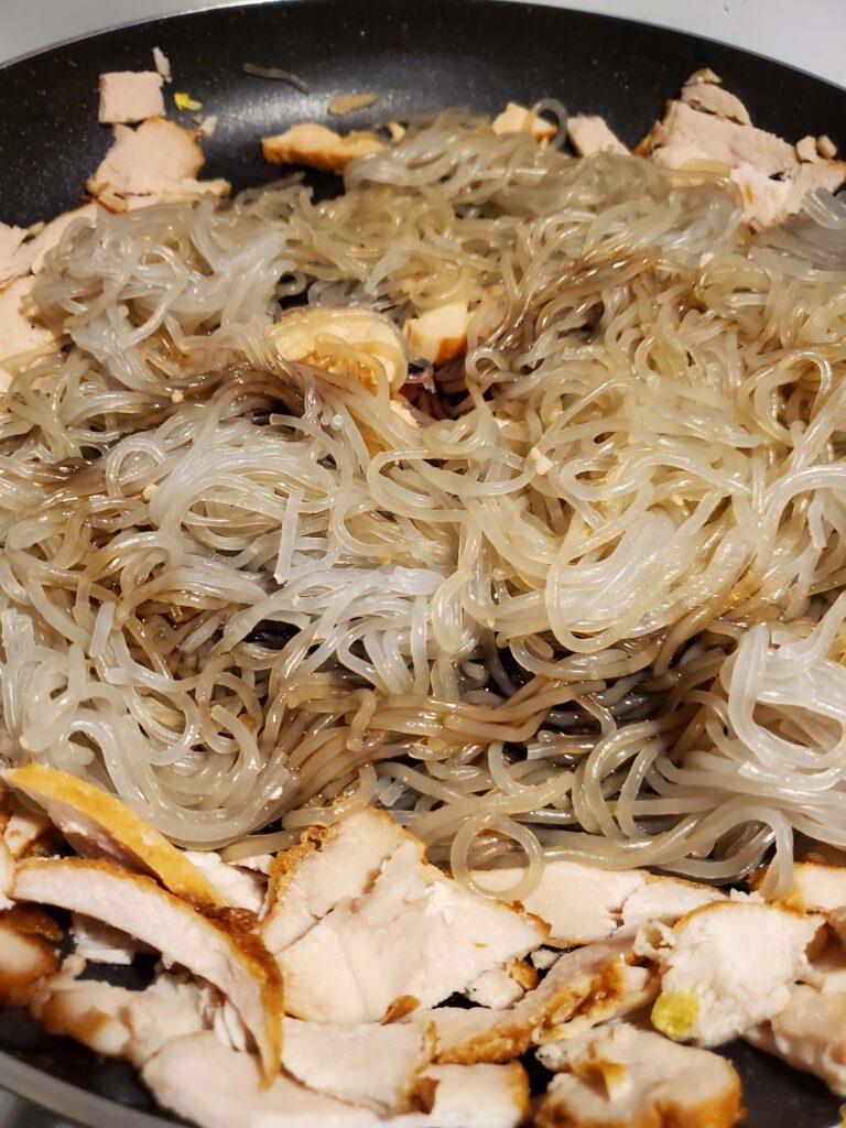 Potato noodle Stir Fry